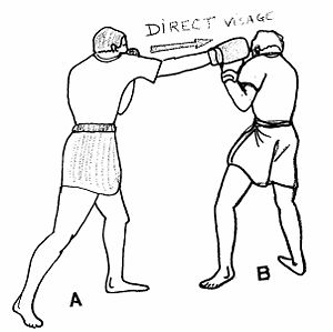 Cross (boxing) - Image: Direct long 1