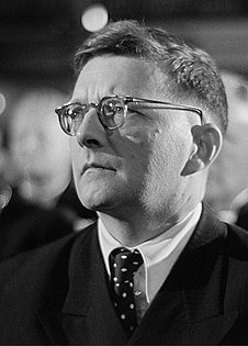 Dmitri Shostakovich Soviet composer and pianist