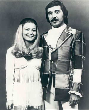 "Doc Severinsen - Severinsen with daughter Nancy, in 1974. Nancy was part of a vocal group called ""Today's Children"" which often performed with him."