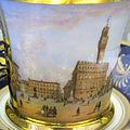 Doccia, servito con vedute di firenze, 1800-1850 ca., tazzina con piazza della signoria 4.JPG