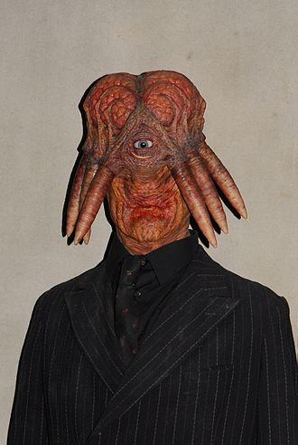 Cult of Skaro - Dalek Sec after being transformed into a Dalek Hybrid