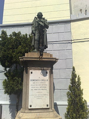 Domenico Cirillo - Statue in Grumo Nevano, Naples