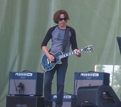 Dominic Miller and Sting at PoriJazz 2006.jpg
