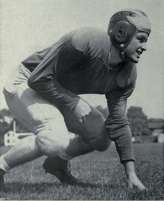1948 Michigan Wolverines football team - Team captain and MVP Dominic Tomasi