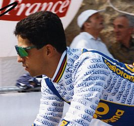Dominique Arnould tijdens de Tour de France van 1993