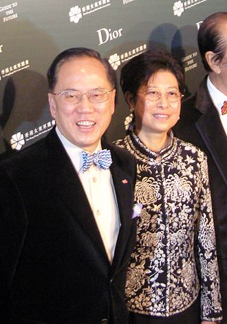 Donald Tsang - Donald Tsang and his wife Selina in 2008.