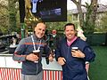 Donal Hughes with fellow broadcaster Rich Beem at the 2016 Irish Open.jpg