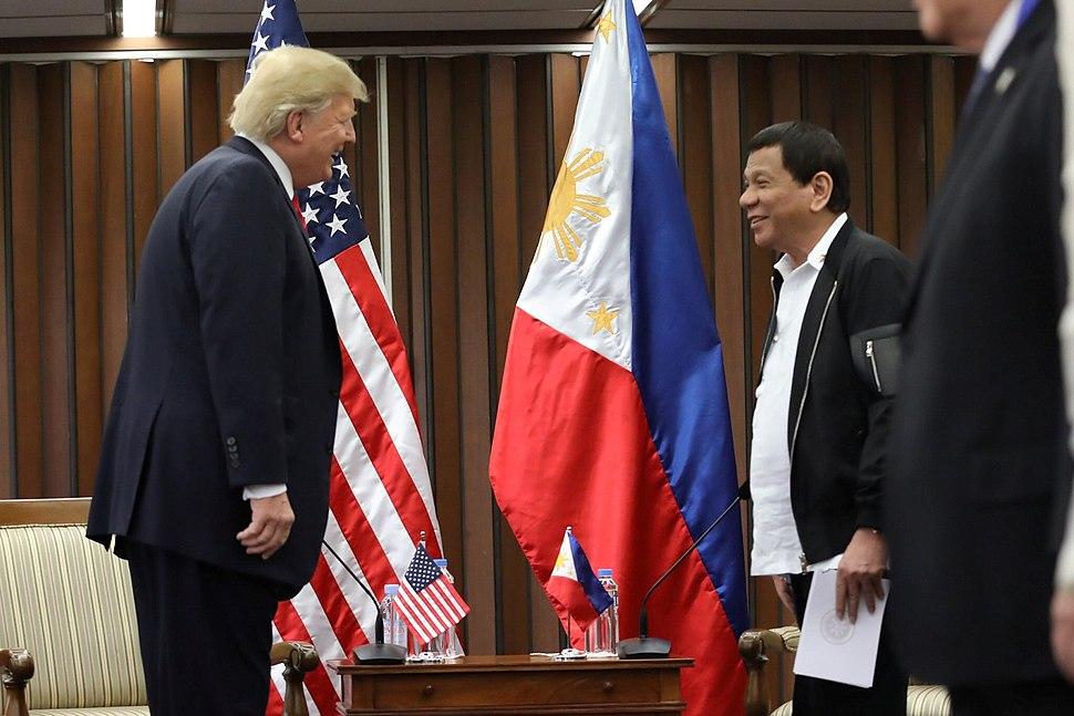 Donald Trump and Rodrigo Duterte in Manila