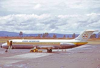 East African Airways - East African Airways Douglas DC-9-32 at Nairobi Airport in 1973