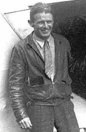 Douglas Corrigan - Corrigan beside his jerry-built aircraft