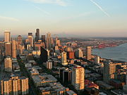 Downtown Seattle includes a tightly-packed financial district along with residential areas and a panoramic waterfront.
