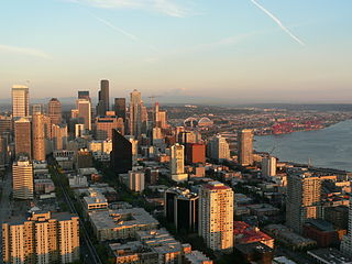 Downtown Seattle central business district