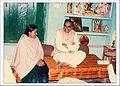 Dr. Kavita Shukla with then chief minister Motilal Vora at Kishore Kala Mandir in 1988.jpg