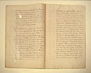 Jean de La Forêt - Draft of the 1536 Treaty negotiated between Jean de La Forêt and Ibrahim Pasha, a few days before his assassination, expanding to the whole Ottoman Empire the privileges received in Egypt from the Mamluks before 1518.