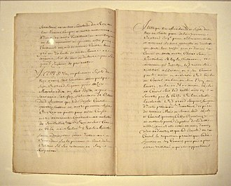Capitulations of the Ottoman Empire - Draft of the 1536 Treaty or Capitulations negotiated between French ambassador Jean de La Forêt and Ibrahim Pasha, a few days before his assassination, expanding to the whole Ottoman Empire the privileges received in Egypt from the Mamluks before 1518.