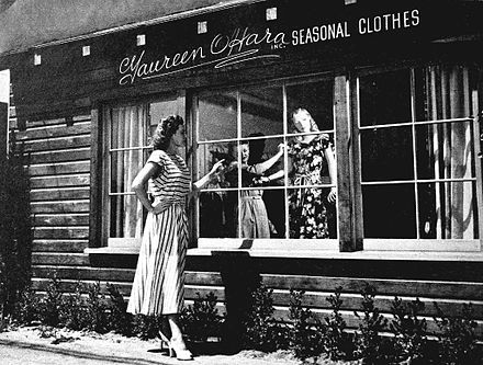 O'Hara's boutique in Tarzana, Los Angeles in 1947 Dress Shop of Maureen O'Hara 1947.jpg