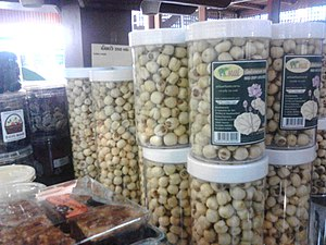 Lotus seed - Dried lotus seeds snack for sale in Surin, Thailand