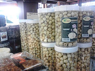Lotus seed - Dried lotus seeds snack for sale in Thailand