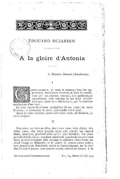 File:Dujardin - À la gloire d'Antonia.djvu