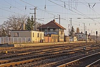 Berlin–Dresden railway - Elsterwerda station