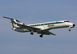 EMB145 Alitalia Express I-EXMD PRG April 2008.jpg