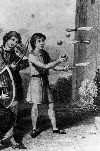 Knife juggling - Juggling with balls and knives (circa 18th century)