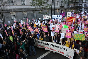 Edinburgh University Students' Association - Edinburgh students protest in London against fee rises