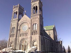 Marius Plamondon - Église du Très-Saint-Sacrement, Québec. The church has stained glass windows by Plamondon
