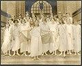Eighth grade girls in Greek costume on steps of Madrona School, Seattle, 1923 (MOHAI 10996).jpg