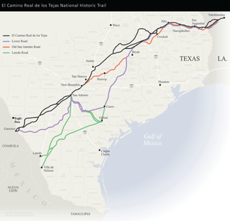 José de Azlor y Virto de Vera - Spanish routes through Texas.  The Aguayo expedition mostly followed the Camino Real.