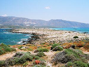 Insel Elafonisi, Blick Richtung Kreta (Grieche...