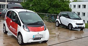 Electric Vehicles Daimler-Smart and Mitsubishi...