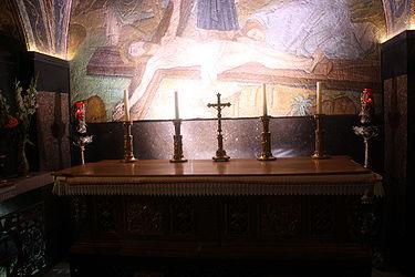 Eleventh Station, Holy Sepulchre altar 2010.jpg