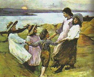 Elizabeth Forbes (artist) - Image: Elizabeth Adela Forbes Ringa Ringo Roses 1880