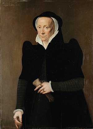 Thomas Audley, 1st Baron Audley of Walden - Elizabeth Grey, second wife of Thomas Audley, depicted in 1569