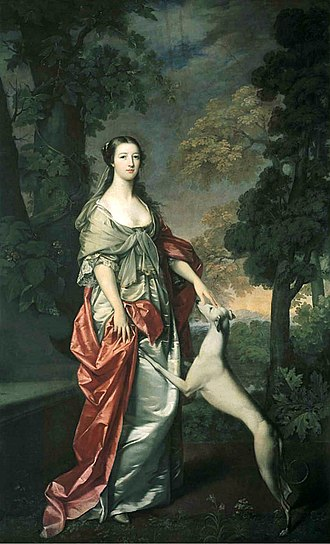 John Campbell, 5th Duke of Argyll - Elizabeth Gunning Portrait by Gavin Hamilton commissioned by James Hamilton, 6th Duke of Hamilton.