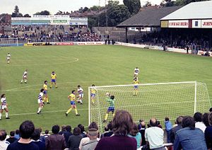 Reading F.C. - Elm Park was Reading's stadium for 102 years, pictured in 1981