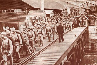 Portugal during World War I - Portuguese troops embarking to Angola.
