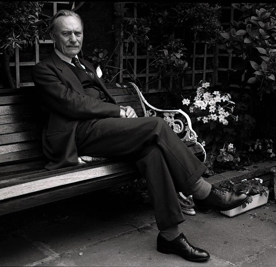 Enoch Powell in garden Allan Warren