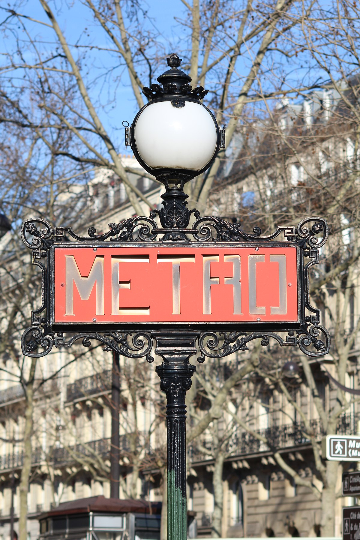 Plaque Metro Parisien Deco métro de paris — wikipédia