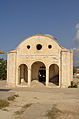 Entrance to deserted former orthodox chapel in North Cyprus (2003).jpg