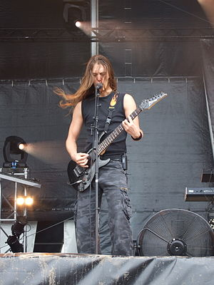 Mark Jansen - Mark Jansen playing at the Hellfest, France, in 2007.