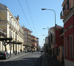 Ercolano - A view of the Golden Mile street in the centre
