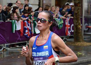 Erika Abril - Erika Abril in the 2012 Summer Olympics marathon