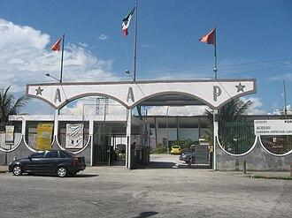 Estádio Luso Brasileiro - The stadium entrance.