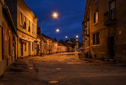 Esztergom (Hungary) by night