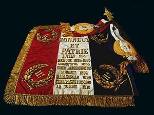 11th Marine Artillery Regiment - The Regimental Colors of the 11e Régiment d'Artillerie de Marine, 11e R.A.Ma