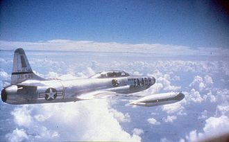 319th Fighter Interceptor Training Squadron - A 319th FIS F-94B over Korea, 1952