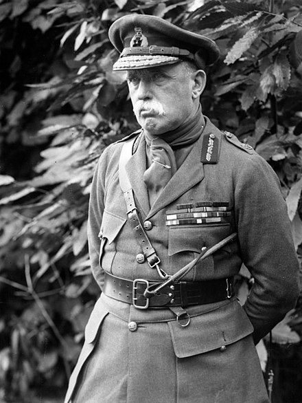 French, photographed in August 1915 F.M. Sir John French, Commander in Chief, in France (Photo 24-309).jpg