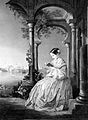 F. Nightingale, reading, by Wellstood after Wandesforde, 1856 Wellcome L0006642.jpg